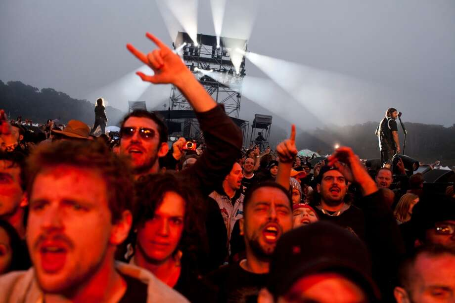 Fans went wild as Bay Area mega-band Metallica took the Lands End stage at the 2012 Outside Lands Music Festival in Golden Gate Park in San Francisco, Calif., Saturday, August 11, 2012. (Jason Henry / Special To The Chronicle)