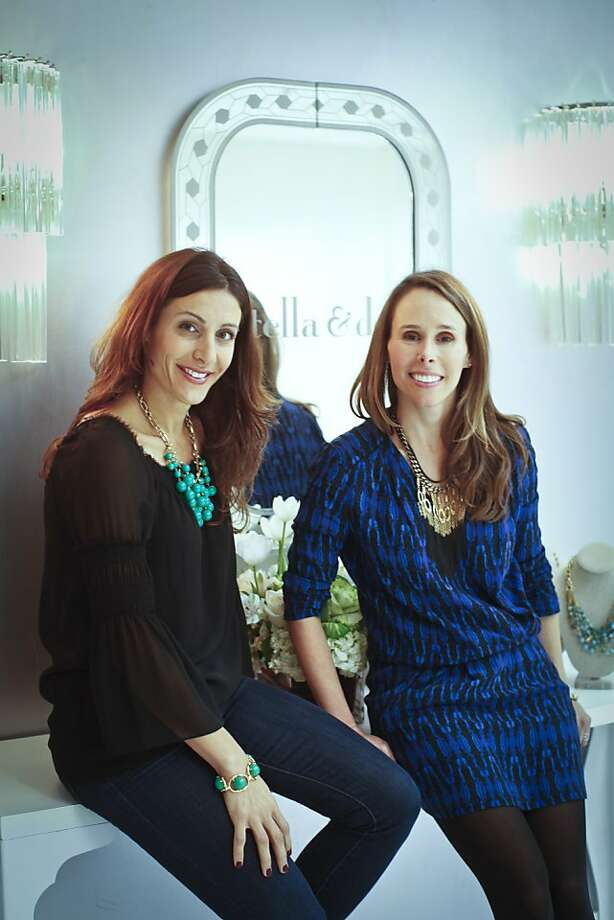 Jessica Herrin and Blythe Harris of Stella and Dot are seen in their San Bruno headquarters. Photo: Russell Yip, The Chronicle