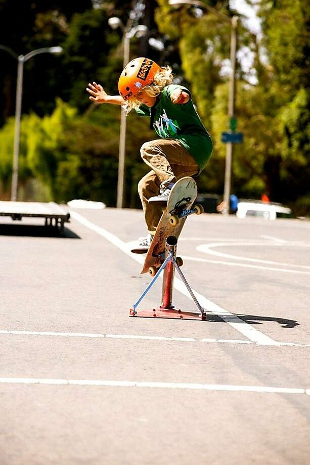 Young people can get a little adrenaline rush - safely - sampling sports like skateboarding. Photo: S.F. Rec And Parks Dept.