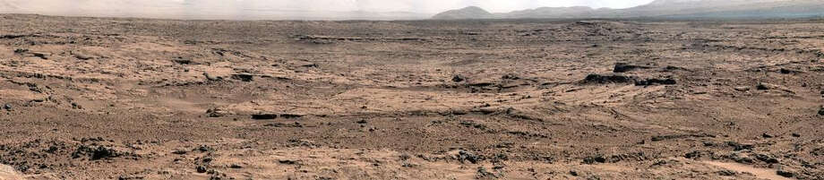 This panorama is a mosaic of images taken by the Mast Camera (Mastcam) on the NASA Mars rover Curiosity while the rover was working at a site called Rocknest in October and November 2012.(NASA)