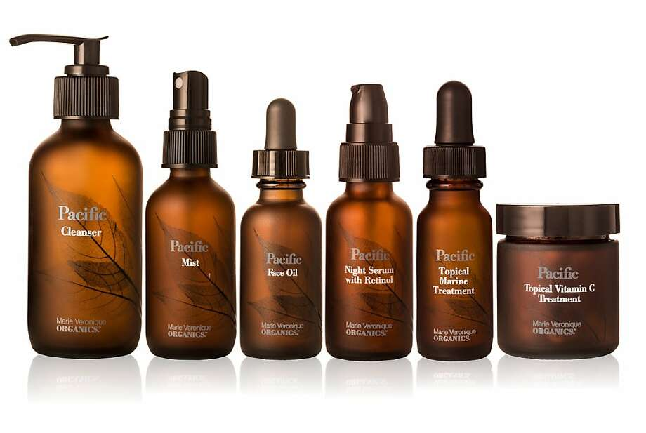 The Pacific line of antiaging products from Marie Veronique Organics, derived from algae and seaweed extracts, includes oil and serums priced from $40 to $375. Photo: Handout