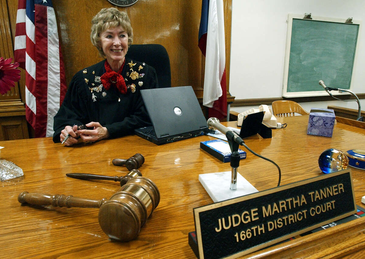 """Martha Tanner is retiring from the 166th District Court. Her advice for new judges? """"I always tell newer judges, 'Be nice. It doesn't cost you a thing, and it can save you a lot of agony (during election season). Running for office is really hard.'"""""""
