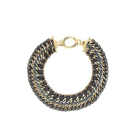 "Stella & Dot also recommend their Tempest Necklace,"" which ""can be worn with the sparkle on the outside or reversed for an edgier daytime look. It's like transformers for girls!"" ($198) Photo: Stella & Dot"