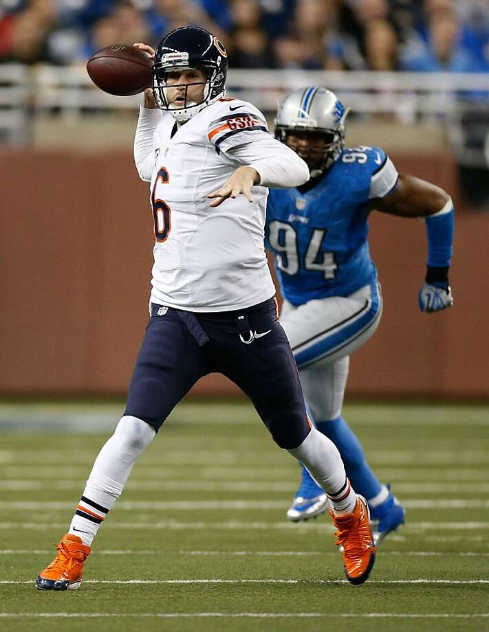 Jay Cutler and the Bears won their game, but didn't get any help from the Packers. Photo: Gregory Shamus, Getty Images