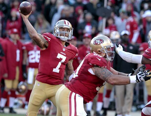 San Francisco 49ers Quarterback Colin Kaepernick (7) during the second half of the San Francisco 49ers game against the Arizona Cardinals at Candlestick Park in San Francisco, Calif., on Sunday December 30, 2012. Photo: John Storey, Special To The Chronicle