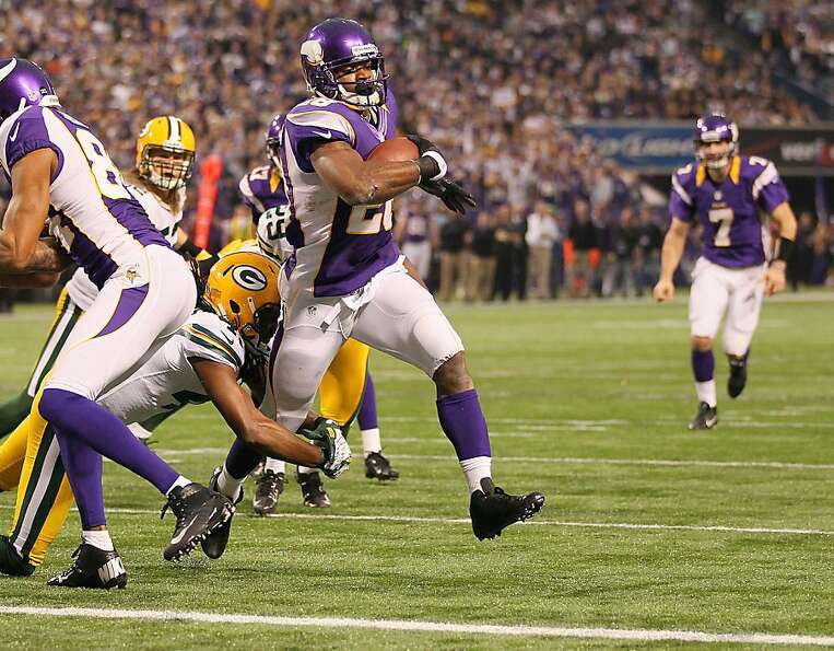 Adrian Peterson finishes with 2,097 yards, 9 short of Eric Dickerson's single-season record.