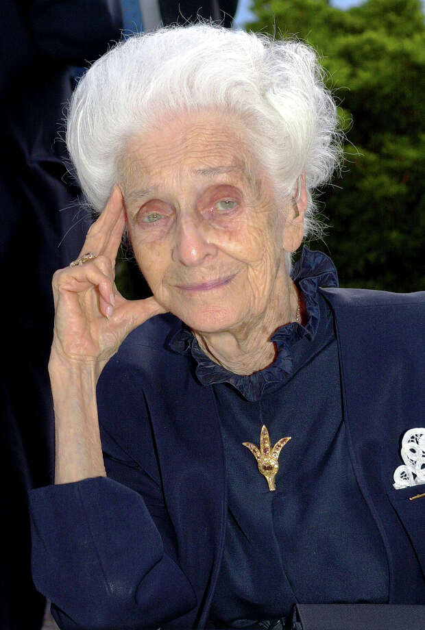 FILE -- Undated file photo of Italian neurologist and senator for life Rita Levi Montalcini, Nobel Prize winner for Medicine in 1986. Rome's mayor says biologist Rita Levi-Montalcini, who conducted underground research in defiance of Fascist persecution, and went on to win a Nobel Prize for helping unlock the mysteries of the cell, has died at her home in the city. She was 103.  (AP Photo/Luca Bruno) Photo: Luca Bruno, STF / AP