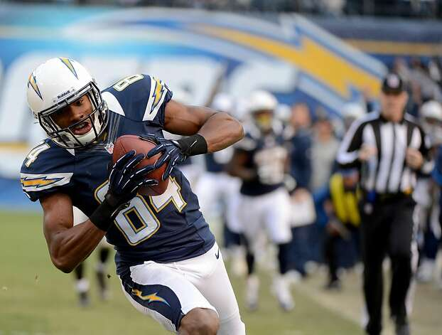 SAN DIEGO, CA - DECEMBER 30: Danario Alexander #84 of the San Diego Chargers catches the ball against the Oakland Raiders on December 30, 2012 at Qualcomm Stadium in San Diego, California. (Photo by Donald Miralle/Getty Images) Photo: Donald Miralle, Getty Images
