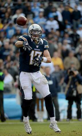 SAN DIEGO, CA - DECEMBER 30: Philip Rivers #17 of the San Diego Chargers throws the ball against the Oakland Raiders on December 30, 2012 at Qualcomm Stadium in San Diego, California. (Photo by Donald Miralle/Getty Images) Photo: Donald Miralle, Getty Images
