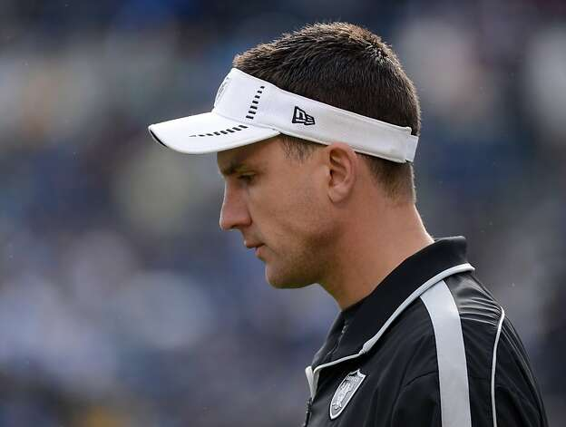 SAN DIEGO, CA - DECEMBER 30:  Head coach Dennis Allen of the Oakland Raiders walks on to the field before the game against the San Diego Chargers at Qualcomm Stadium on December 30, 2012 in San Diego, California.  (Photo by Harry How/Getty Images) Photo: Harry How, Getty Images