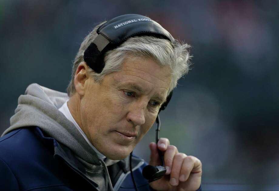 Seattle Seahawks head coach Pete Carroll is shown in the second half of an NFL football game against the St. Louis Rams, Sunday in Seattle. Photo: AP Photo/Elaine Thompson