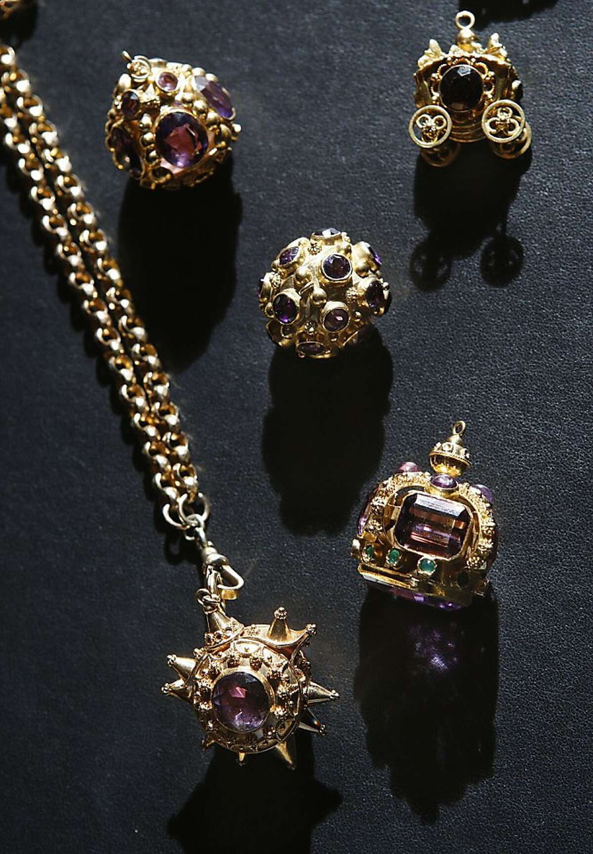 Meriwether in San Francisco maintains a range of jewelry, including these glittery charms.