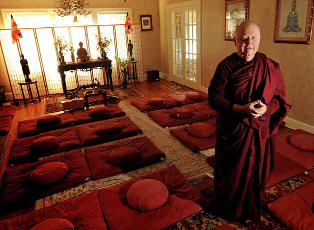 The newly established Metta house in Old Town Beaumont will offer meditation classes on Wednesday nights at 7:00 p.m. Bhante Kassapa stands in the meditation room. Photo taken Tuesday, November 13, 2012 Guiseppe Barranco/The Enterprise Photo: Guiseppe Barranco, STAFF PHOTOGRAPHER / The Beaumont Enterprise