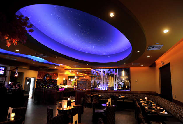 The night sky is depicted in the ceiling of Fusion 25 in Newtown. Photographed on Monday, Dec. 24, 2012. Photo: Jason Rearick / The News-Times
