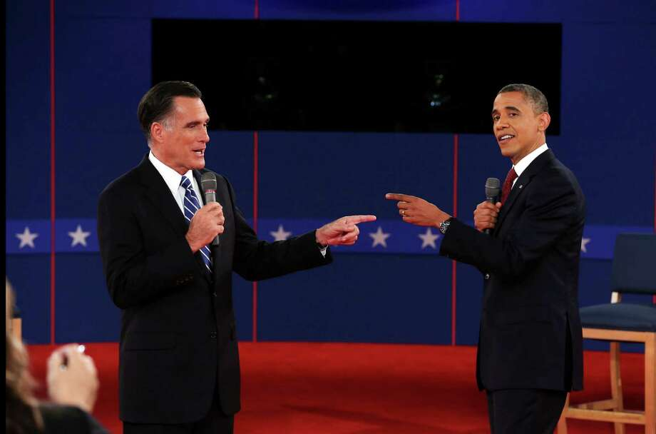"Mitt Romney uttered his ""binders full of women"" comment during a debate with President Obama. A reader said she does not understand how that  could qualify as one of the most noteworthy quotes of 2012. Photo: Doug Mills, New York Times / NYTNS"
