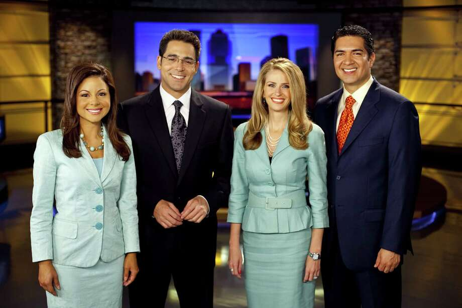 Stalking victim Jennifer Reyna, left, works with KPRC's morning crew, which also includes Owen Conflenti, Lauren Freeman and Anthony Yanez.   Photo: KPRC-TV Chnanel 2 / handout