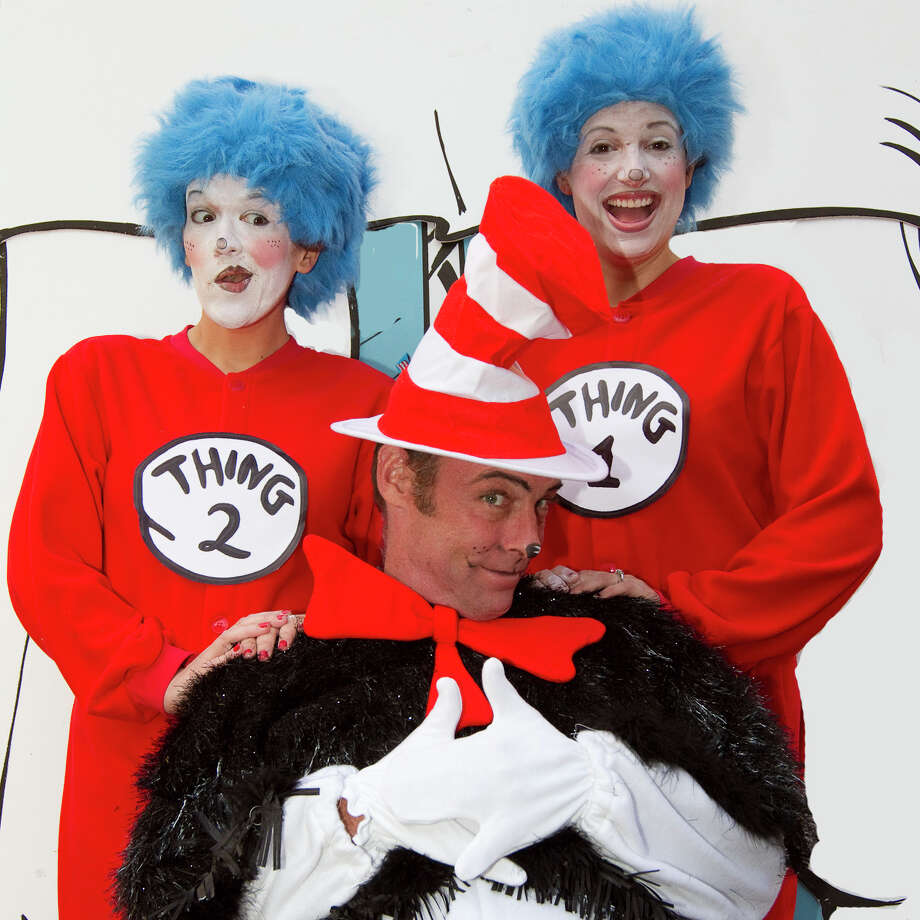 "Magik Theatre's ""The Cat in the Hat"" features, from left, Ariel Rosen, Dylan Collins and Melissa Zarb-Cousin. Courtesy David Frank Photo: Courtesy David Frank"