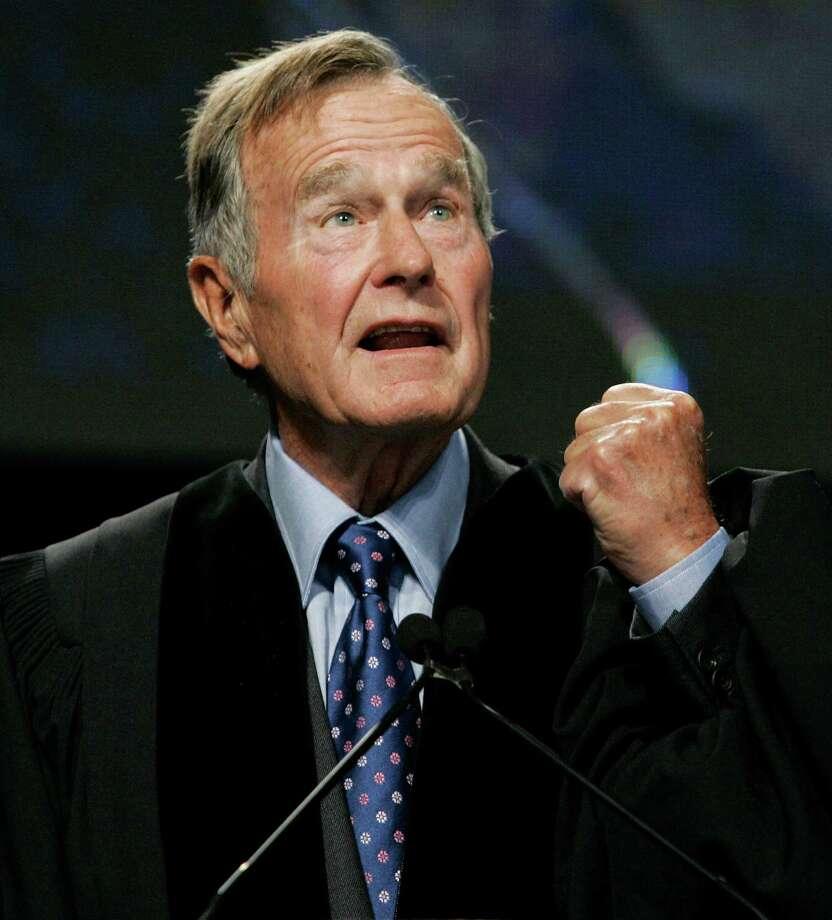 Commentary -- Former President George H.W. Bush. (AP Photo/Elise Amendola, Pool, File) Photo: Elise Amendola, Associated Press / Pool AP