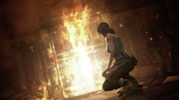 "Help Laura Croft hone her survivalist skills with ""Tomb Raider."" Photo: Courtesy"