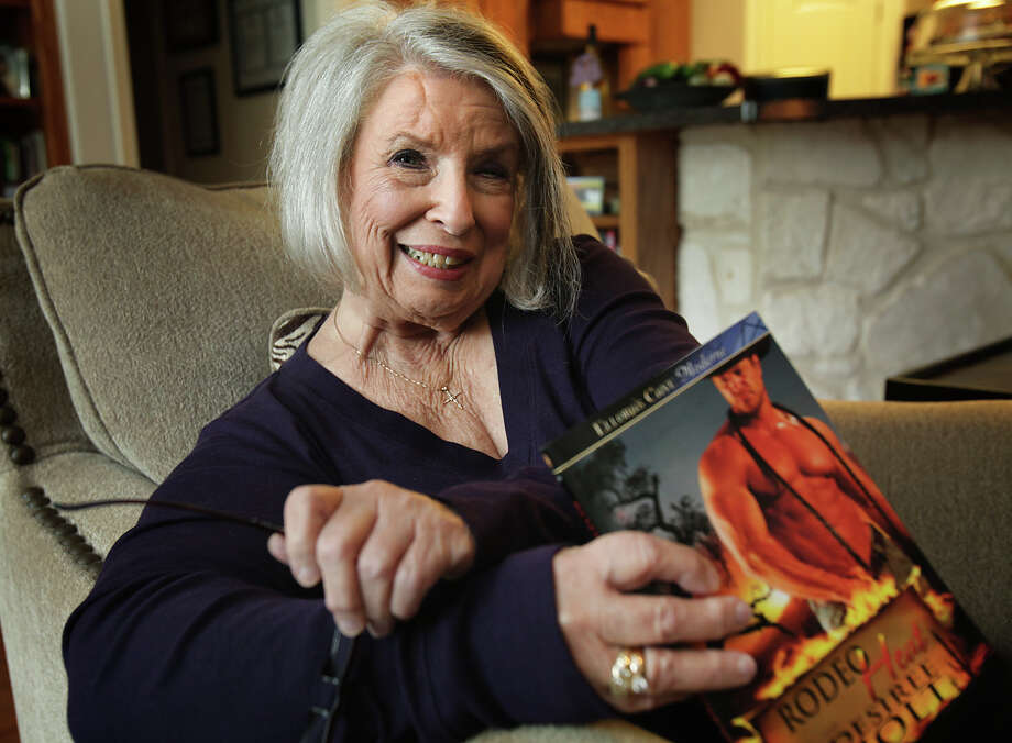 Desiree Holt, 76, aka Judith Rochelle, who lives near Sisterdale, has intensified the erotic romance genre to outright bawdy. Photo: Bob Owen, San Antonio Express-News / © 2012 San Antonio Express-News