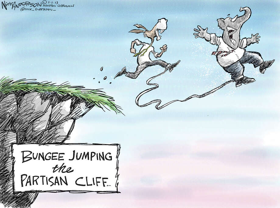 Bungee jumping the partisan cliff