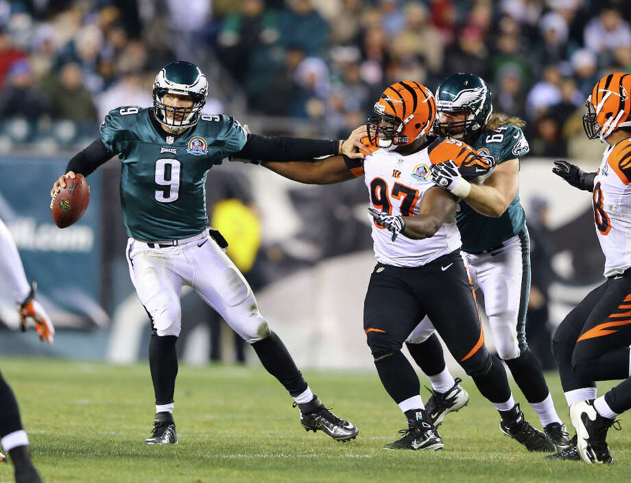 Defense leads the way: They have had touchdowns in three straight games. The Bengals have set a club record with 51 sacks this season. Defensive tackle Geno Atkins has 121/2 sacks, defensive end Michael Johnson has 111/2 sacks. It's the first time since 1981 that the Bengals have had two players with double-digit sacks. The defense ranks sixth in the league in yards allowed — 12th against the run and seventh against the pass. Photo: Al Bello / 2012 Getty Images