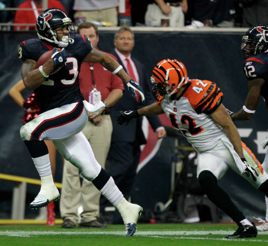 The Bengals have a four-game losing streak against the Texans: The streak includes two losses last season. On the other hand, Cincinnati was 6-2 on the road this season, which tied a team best. Photo: Brett Coomer / © 2012  Houston Chronicle