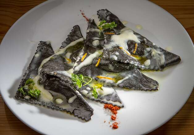 The black ravioli is among the excellent ravioli at Paul Oprescu's Belli Osteria in Berkeley. Photo: John Storey, Special To The Chronicle