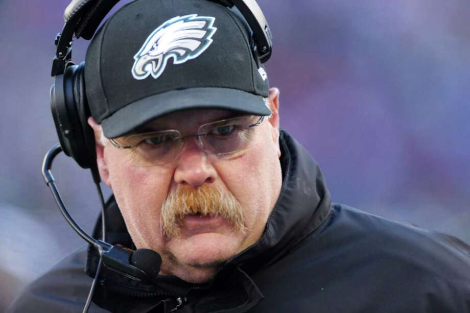 FILE - Philadelphia Eagles head coach Andy Reid during the first half of an NFL football game against the New York Giants Sunday, Dec. 30, 2012 in East Rutherford, N.J. Reid has been fired after 14 seasons coaching the Philadelphia Eagles. The Eagles made the announcement Monday, Dec. 31, 2012. (AP Photo/Peter Morgan, File) Photo: Peter Morgan