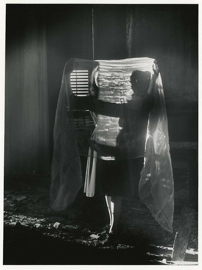 """Dislocation of a Figure"" (1941, printed 1970s), a gelatin silver print, toys with the idea of the unphotographable as something that cannot be programmed or replicated. Photo: Clarence John Laughlin"