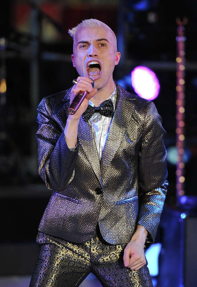 NEW YORK, NY - DECEMBER 31: Singer Tyler Glenn of the band Neon Trees peforms during New Year's Eve 2013 In Times Square at Times Square on December 31, 2012 in New York City. Photo: Mike Coppola, Getty Images / 2012 Getty Images