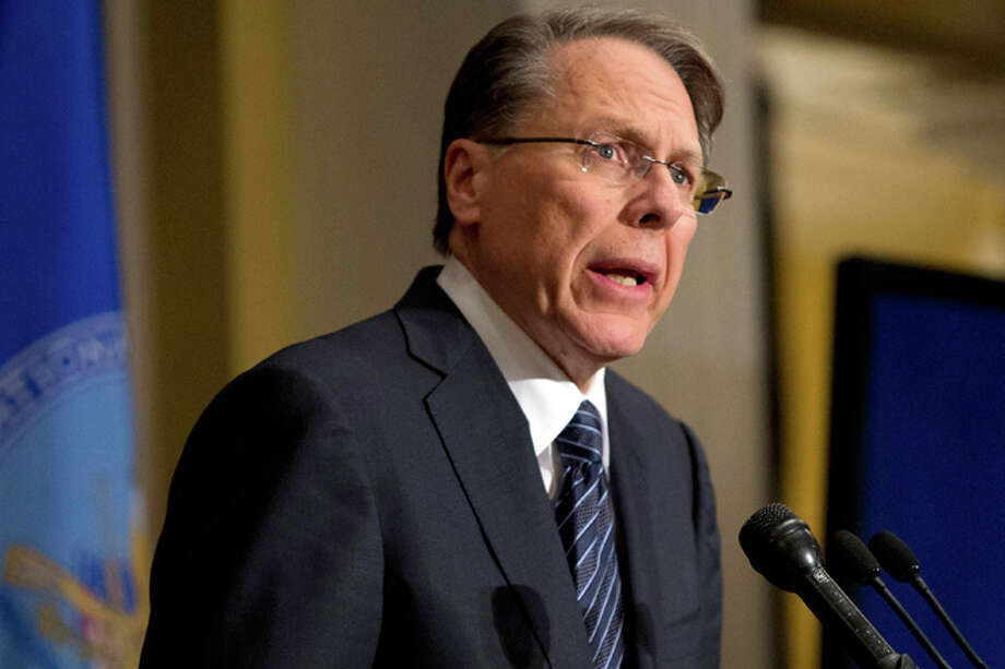 """National Rifle Association CEO Wayne LaPierre: """"If these so-called 'European socialists' take over the House and the Senate, and God forbid they get the White House again, our American freedoms could be lost and our country will be changed forever."""" Photo: Evan Vucci, ASSOCIATED PRESS / AP2012"""