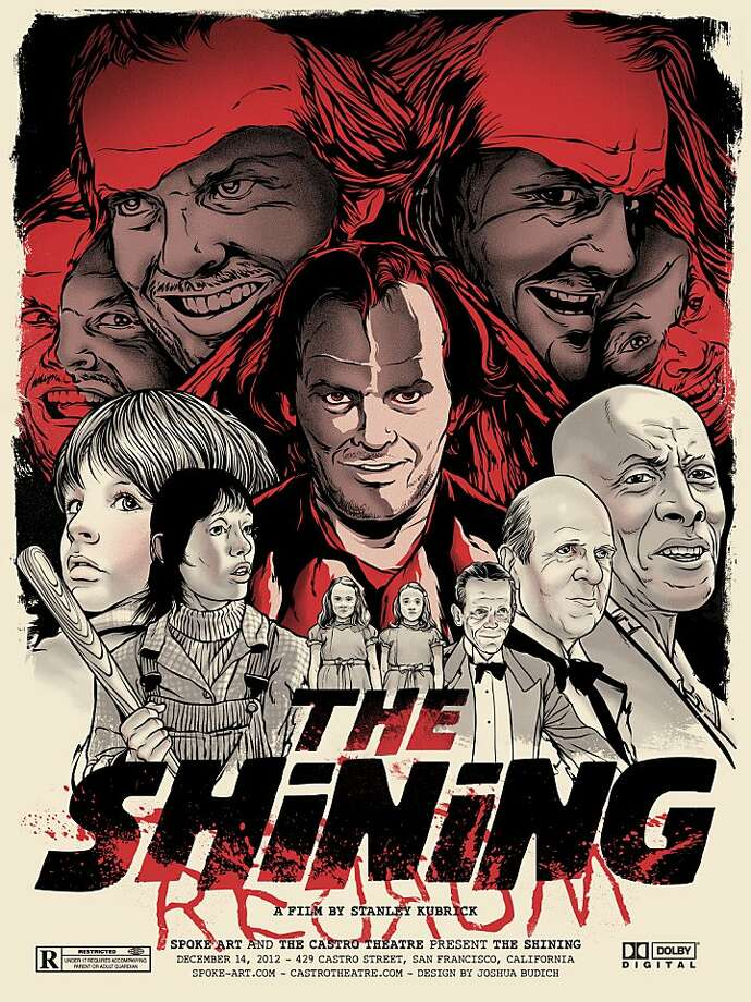 "An illustrated poster of ""The Shining,"" done by Joshua Budich. Photo: Spoke Art Gallery"