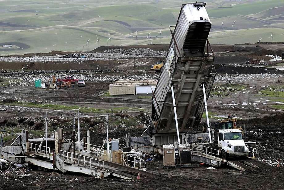 The Altamont Waste Management landfill is used by many Bay Area cities. Photo: Michael Macor, The Chronicle