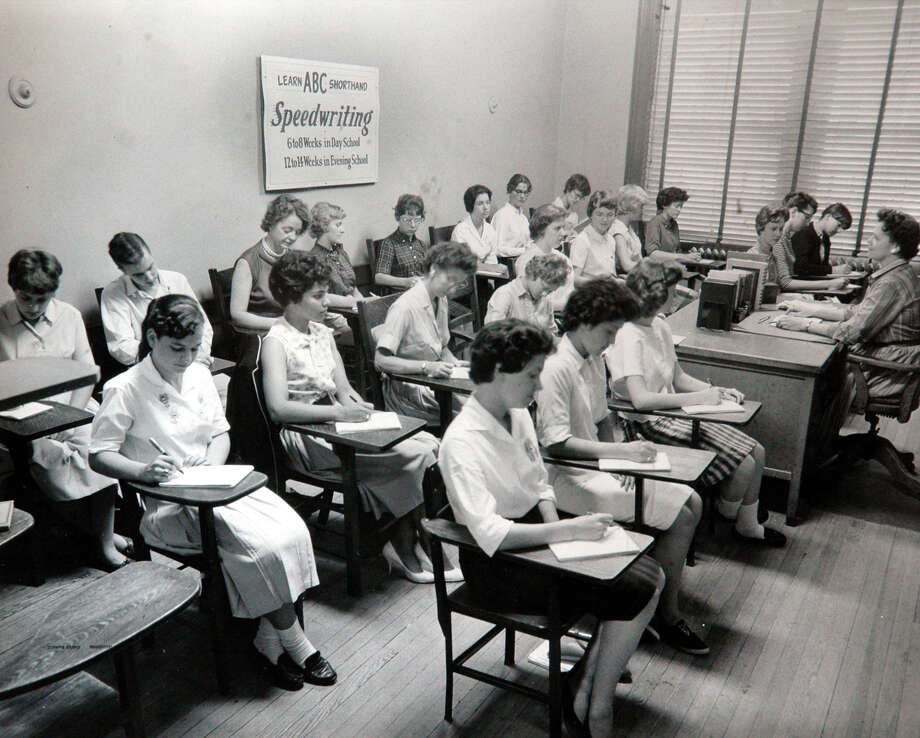 The Butler Business School in 1952, when speedwriting was introduced. Photo: Contributed Photo / Connecticut Post Contributed