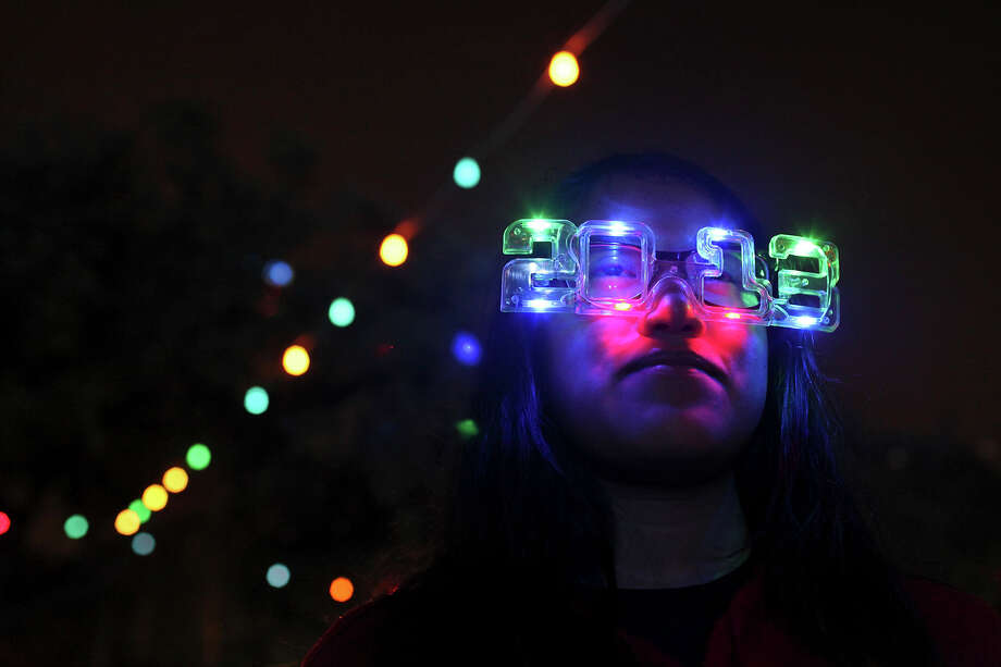 Noemi Gonzalez, 14, takes in the sights during the Celebrate San Antonio event held Monday Dec. 31, 2012. Photo: Edward A. Ornelas, San Antonio Express-News / © 2012 San Antonio Express-News