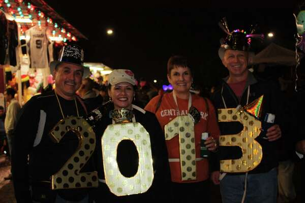 Revelers prepare to welcome 2013 during Celebrate San Antonio downtown on Dec. 31, 2012.