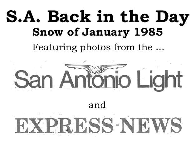 Nearly everyone who lived in San Antonio in January 1985 will remember the wonderful winter wonderland that greeted Alamo City residents one weekend. From early Saturday morning, Jan. 12 to Jan. 13, the city received a record 13.5 inches of snow. We've combed through the San Antonio Express, San Antonio News and San Antonio Light archives to bring you the best photos from the memorable storm. Enjoy! Compiled by Merrisa Brown, mySA.com. Photo: San Antonio Express-News Archives