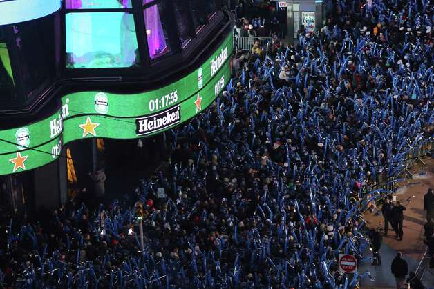 Revelers pack Times Square for the annual New Year's celebration Monday, Dec. 31, 2012 in New York. Photo: AP
