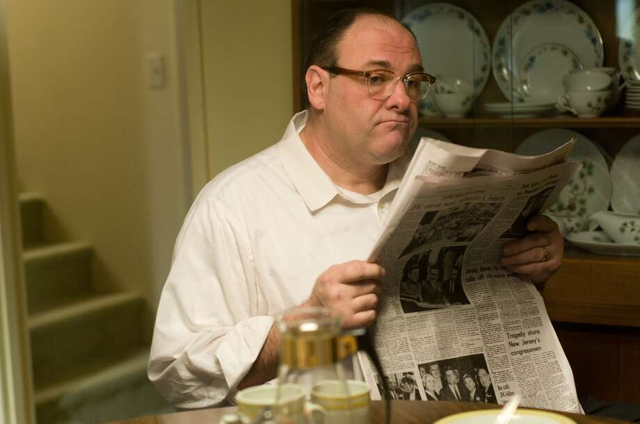 "In this film image released by Paramount Vantage shows James Gandolfini, as Pat, in a scene from ""Not Fade Away."" (AP Photo/Paramount Vantage) Photo: Associated Press / Paramount Vantage"