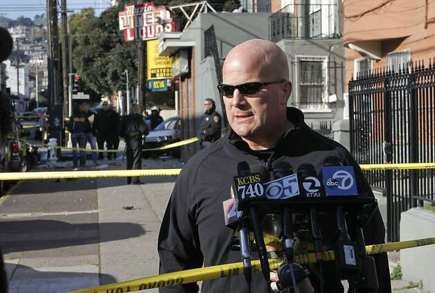 San Francisco Police Chief Greg Suhr, delivers the details at the scene as police investigate a two car vehicle crash that left two people dead in San Francisco, Calif. at the corner of 21St. and South Van Ness Ave. on Tuesday Jan. 1,  2013. Photo: Michael Macor, The Chronicle