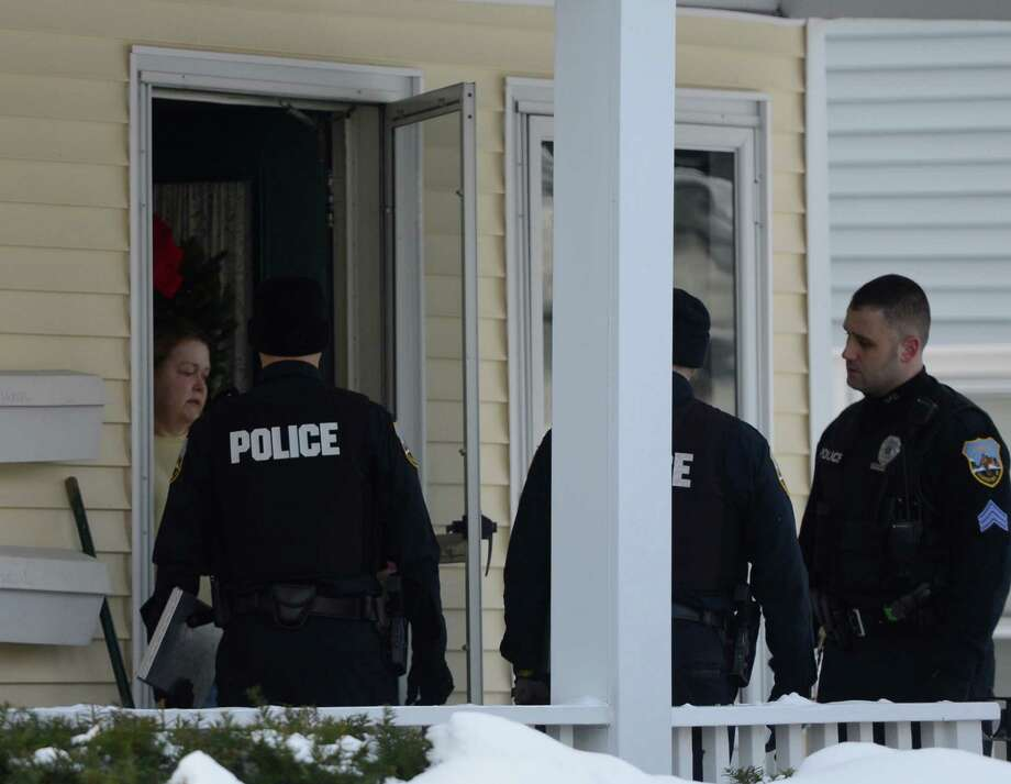 Police investigate a suspicious death at 1402 Stanford Street in Schenectady, N.Y.  Jan 1, 2013. (Skip Dickstein/Times Union) Photo: SKIP DICKSTEIN