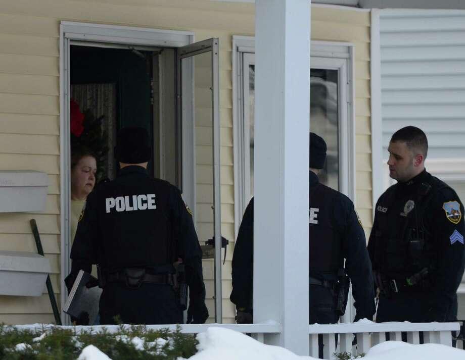 Police investigate a suspicious death at 1402 Stanford Street in Schenectady, N.Y.  Jan 1, 2013. (Skip Dickstein/Times Union) Photo: SKIP DICKSTEIN