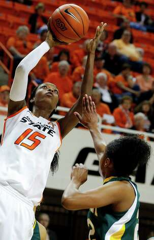Toni Young and Oklahoma State now own the nation's longest win streak at 17. Photo: Sarah Phipps, Associated Press / The Oklahoman