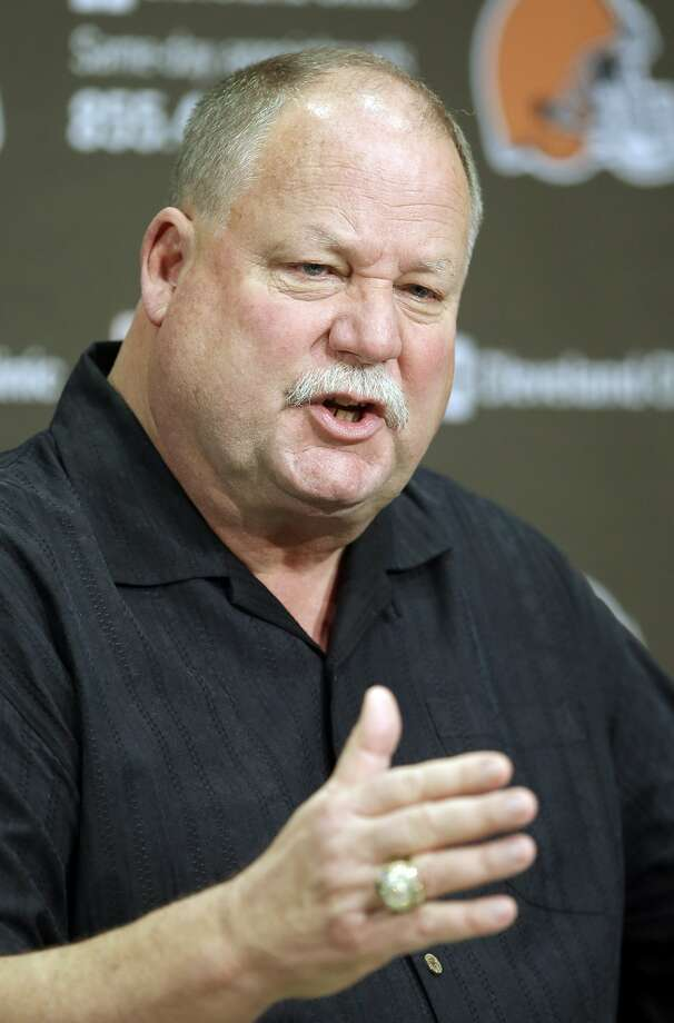 Cleveland Browns president Mike Holmgren answers a question during a news conference at the NFL football team's practice facility in Berea, Ohio Tuesday, Oct. 23, 2012. Holmgren retired at the end of the season as new owner Jimmy Haslam and president Joe Banner took the reigns. Photo: Mark Duncan, Associated Press