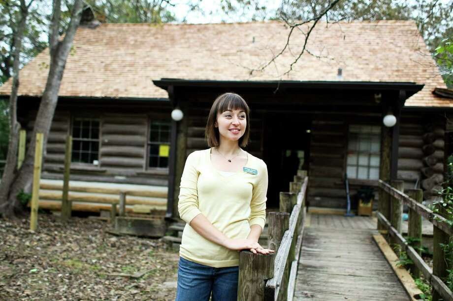 Bethany Foshee, who coordinates Audubon's docent programs, sees the Edith L. Moore cabin as an unfailing educational asset. Photo: Nick De La Torre, Staff / © 2012  Houston Chronicle
