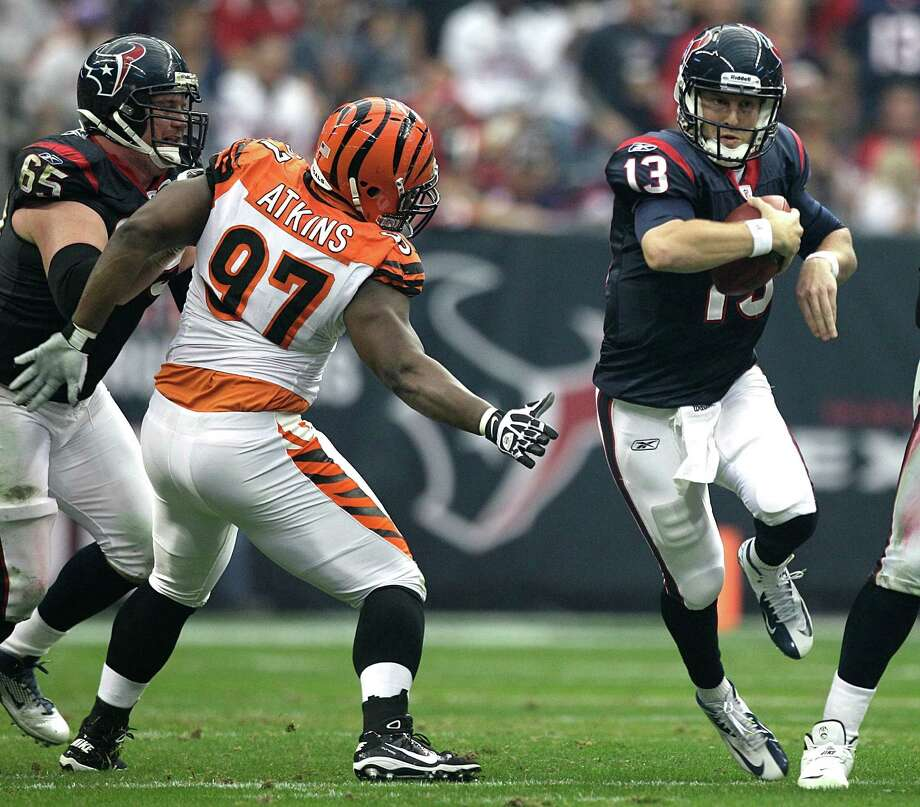 Last season, quarterback T.J. Yates, right, helped the Texans defeat the Bengals in the wild-card round for the franchise's lone playoff victory. Photo: Brett Coomer, Staff / © 2012  Houston Chronicle