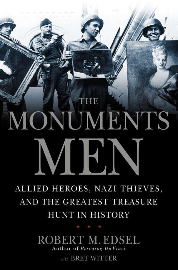 THE MONUMENTS MEN - (No pictures yet, so here's the book cover. And you need reasons? Oh, here they come: 1. Director? George Clooney; 2. Writers? Clooney and Grant Heslov; 3. Cast? Clooney, Matt Damon, Cate Blanchett, Daniel Craig, Bill Murray, John Goodman, Jean Dujardin.
