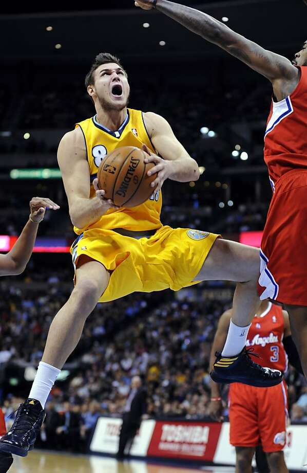 The end of the Clippers' win streak at the hands of Danilo Gallinari and the Nuggets was jaw-dropping. Photo: Jack Dempsey, Associated Press