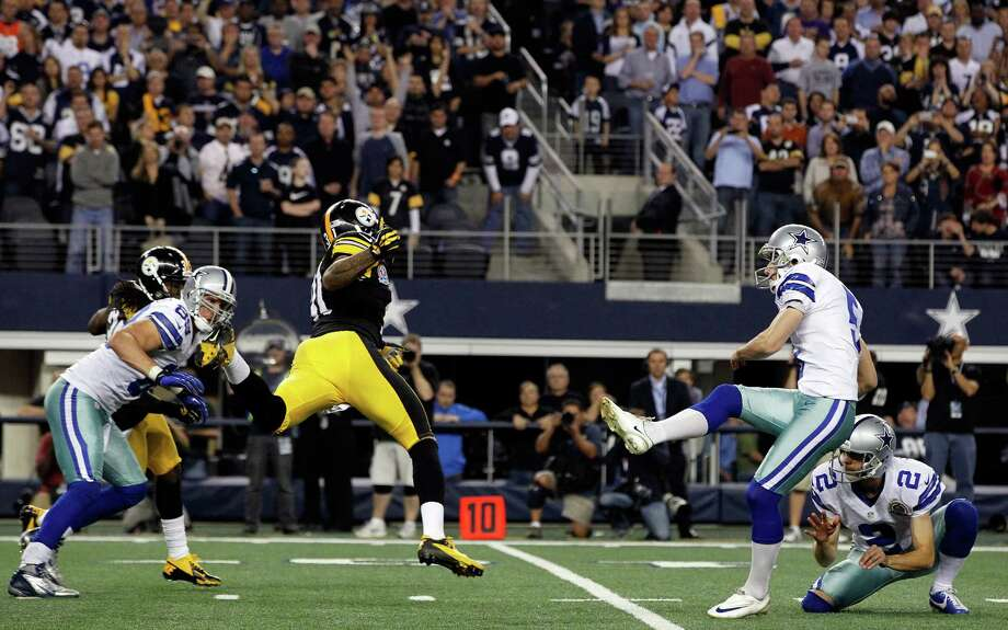 SPECIAL TEAMS — GRADE: C Kicker Dan Bailey was outstanding again and Dwayne  Harris emerged as a play-making punt returner.  Kickoff coverage also was strong, but other areas were lacking.PHOTO: Bailey kicks the game-winning field goal against the Pittsburgh Steelers on Dec. 16 in Arlington. Photo: Tom Pennington, Getty Images / 2012 Getty Images